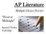AP Literature Style Multiple Choice Passage - Coleridge