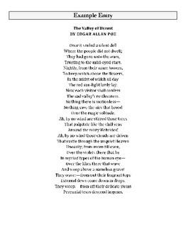 AP Literature TP-CASTT Poetry Analysis