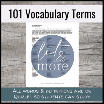 AP Lit Literary Terms Quiz Unit