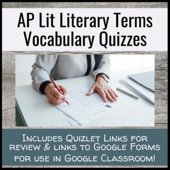 AP Literature Terms Vocabulary Quiz Unit