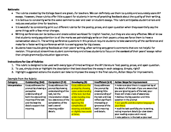 AP Literature Timed Writing Assessment Pack