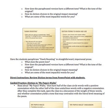 AP Literature Tone & Diction in Poetry Lesson Plan