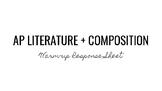 AP Literature Warm-up Response Sheet