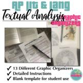 AP Literature and AP Language Textual Analysis Graphic Organizers