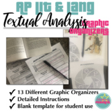 AP Literature and AP Language Textual Analysis Graphic Organizers