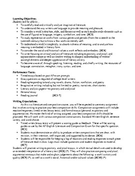 AP Literature and Composition AUDITED