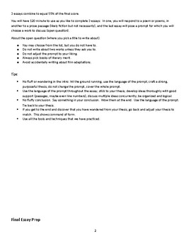 AP Literature and Composition Exam Prep Workbook