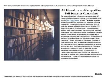 AP Literature and Composition Semester Curriculum