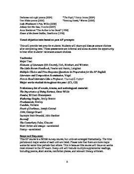 AP Literature and Composition Syllabus
