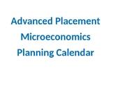 AP MIcroeconomics Planner and Calendar