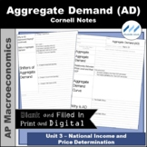AP Macro - Aggregate Demand (AD) Cornell Notes