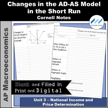 AP Macro - Changes in the AD-AS Model in the Short-Run Cornell Notes