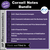 AP Macro - Cornell Notes Bundle - All Six Units - Print an