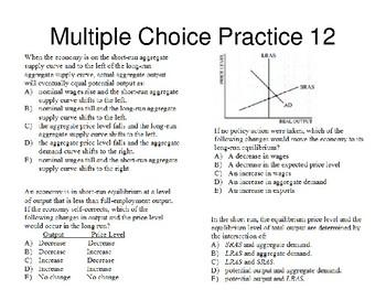 AP Macro Course Review 2 Practice Problems.