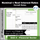AP Macro 4.2 Real v. Nominal Interest Rates Cornell Notes