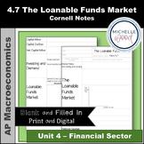 AP Macro 4.7 The Loanable Funds Market Cornell Notes   Pri