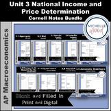 AP Macro - Unit 3 National Price Determination Cornell Not