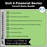 AP Macro - Unit 4 Financial Sector Cornell Notes Bundle  