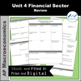 AP Macro - Unit 4 Financial Sector Review   Print and Digital