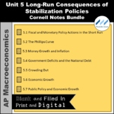AP Macro-Unit 5 Long-Run Consequences Cornell Notes Bundle