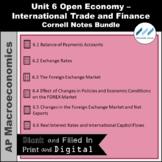AP Macro-Unit 6 Int'l Trade and Finance Cornell Notes Bund