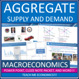 AP Macroeconomics - Aggregate Supply and Demand LRAS AD SRAS Bundle Power Point