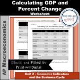 AP Macroeconomics - Calculating GDP and Percent Change Worksheet
