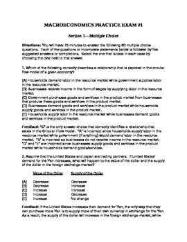 AP Macroeconomics Full-Length Practice Exam #1