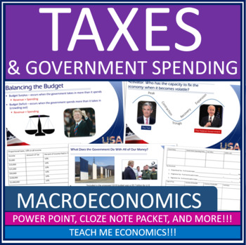 Economics - Taxes & Government Spending Fiscal Policy Power Point Notes