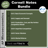 AP Micro - Cornell Notes Bundle - All Six Units | Print an