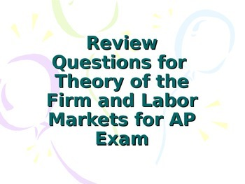 AP Micro Economics Review of Firm Structure (Product) and