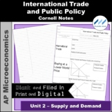 AP Micro - International Trade and Public Policy Cornell Notes