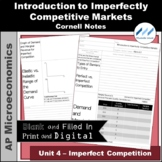 AP Micro 4.1 Intro to Imperfect Competition Cornell Notes