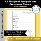 AP Micro - Marginal Analysis and Consumer Choice Cornell Notes