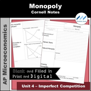 AP Micro - Monopoly Cornell Notes