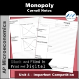 AP Micro 4.2 Monopoly Cornell Notes | Print and Digital