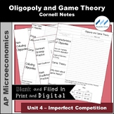 AP Micro 4.5 Oligopoly and Game Theory Cornell Notes | Pri