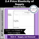 AP Micro - Price Elasticity of Supply Cornell Notes