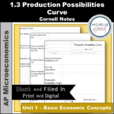 AP Micro - Production Possibilities Curve Cornell Notes