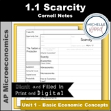 AP Micro 1.1 Scarcity Cornell Notes | Print and Digital