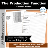 AP Micro - The Production Function Cornell Notes