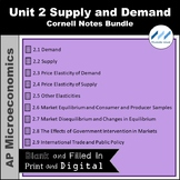 AP Micro - Unit 2 Supply and Demand Cornell Notes Bundle |