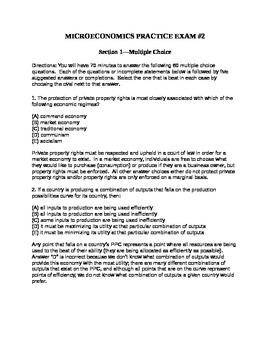 AP Microeconomics Full-Length Practice Exam #2
