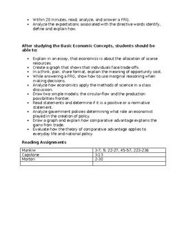 AP Microeconomics Teacher Unit Plan
