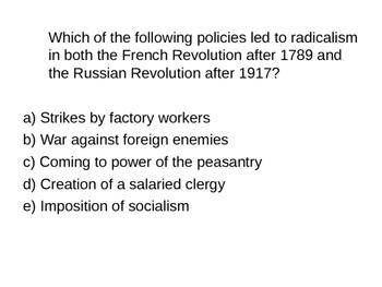 AP Multiple Choice Questions: 1914 - Present