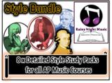 AP Music Style Bundle Baroque Classical Romantic