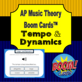 AP Music Theory - Tempo and Dynamics Boom Cards (with aural stimuli)