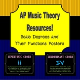AP Music Theory Posters: Scale Degrees and Their Functions