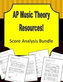 AP Music Theory - Score Analysis Bundle