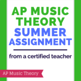 AP Music Theory Summer/ Prep Assignment